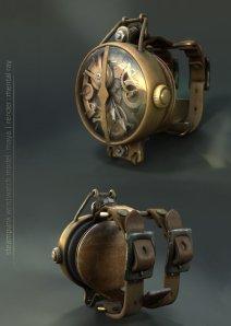 A Steampunk Wrist Watch by Matt Donnici