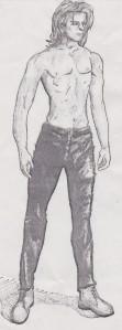 A sexy manga man