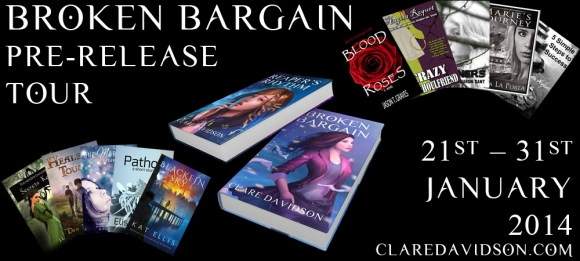 Broken Bargain Pre-release Blog Tour Banner